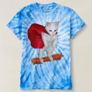 Cat Riding Bacon With Superhero Cape T-shirt