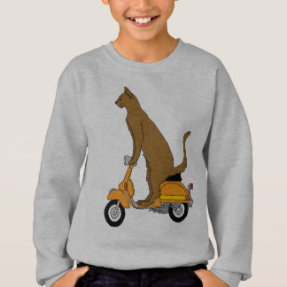 Cat Riding Motor Scooter Sweatshirt