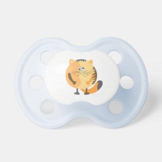 cat round cartoon illustration pacifier