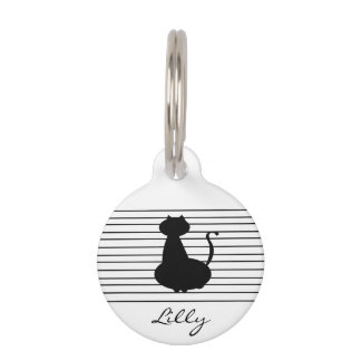 Cat Round Pet Tag