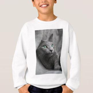 Cat Russian Blue Look Eyes Gray Pet Sweatshirt