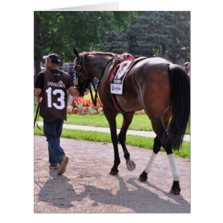 Cat s Claw wins the Waya Stakes Greeting Card