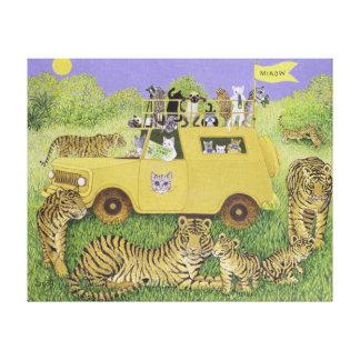 Cat Safari Canvas Print