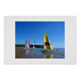 CAT SAILING BOATS IN WALES POSTER