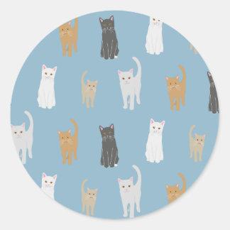 Cat sample sticker blue
