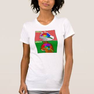 """Cat Scan"" - the Abyssinian Brain T-Shirt"