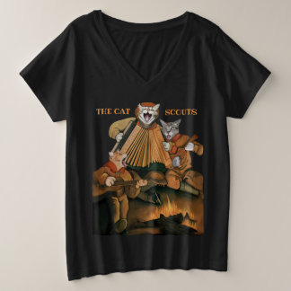 Cat Scouts Accordion Ukelele Campfire Band Tshirt