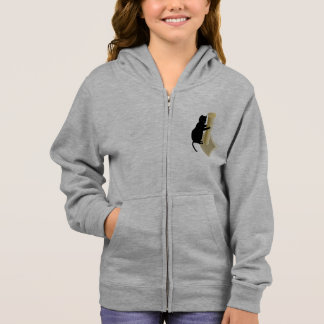 Cat Scratching Post Girls Hoodie