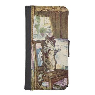 Cat Serving Tea - Beatrix Potter Phone Wallet Cases
