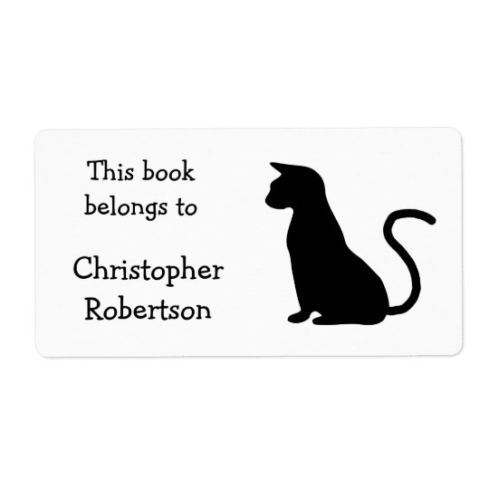Cat Silhouette Book Plate