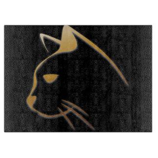 Cat silhouette cutting board