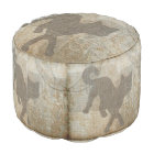 Cat Silhouette French Chic Chandelier Home Decor Pouf