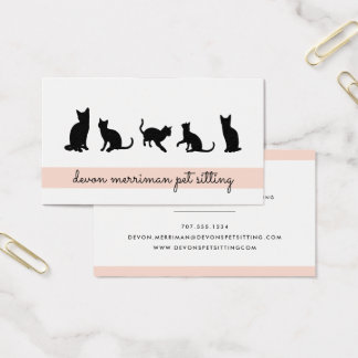 Cat Silhouette Petsitter Business Card