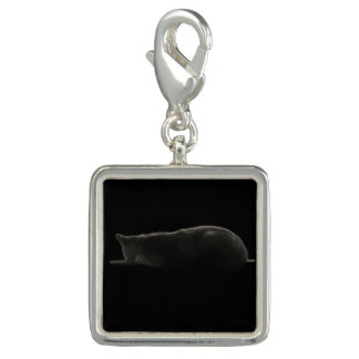 Cat Silhouette Photo Charm