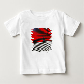 Cat Silhouette - Red Baby T-Shirt