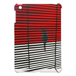 Cat Silhouette - Red iPad Mini Covers