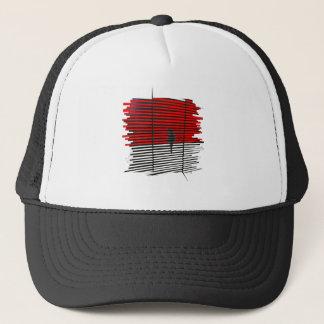 Cat Silhouette - Red Trucker Hat