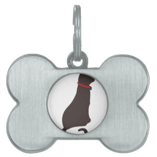 Cat Sillhouette Pet Tags