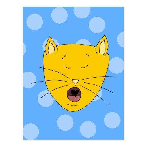 Cat Singing. Postcards
