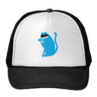 Cat Sit Pointing Blue Hi Eyes Hats