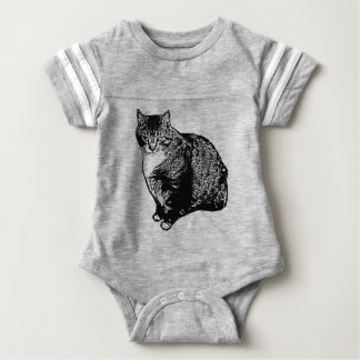 Cat Sitting Baby Bodysuit