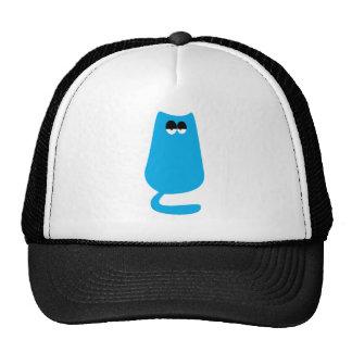 Cat Sitting Blue Hi Eyes Hats