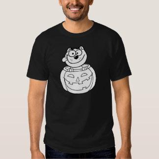 Cat Sitting Inside Pumpkin T-shirt
