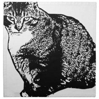 Cat Sitting Napkin