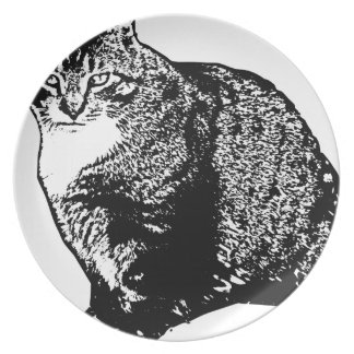 Cat Sitting Plate