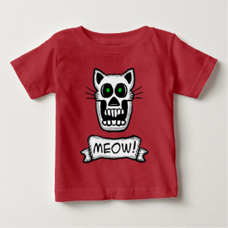 Cat skull Graphic Design Baby T-Shirt