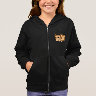 Cat Sleeping Girls Hoodie