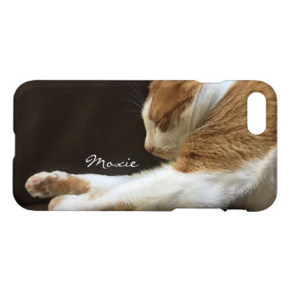 Cat sleeping on sofa iPhone 7 case