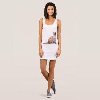 cat sleeveless dress