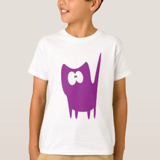 Cat Small Standing Purple Wtf Eyes T-Shirt
