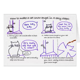 Cat Snow Angel Card
