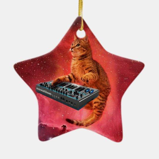 cat sounds - cat - funny cats - cat memes ceramic star ornament