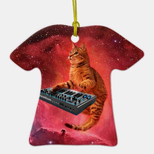 cat sounds - cat - funny cats - cat memes ceramic T-Shirt ornament