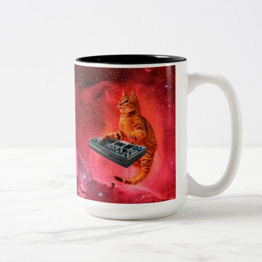 cat sounds - cat - funny cats - cat memes Two-Tone coffee mug