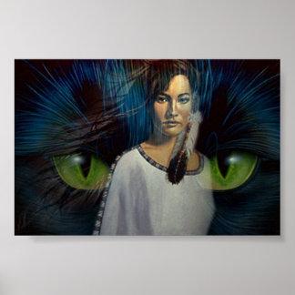 Cat Spirit Poster