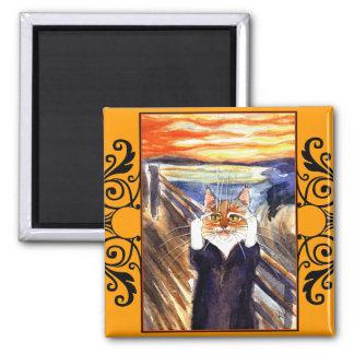 Cat spoof magnet, Edvard Munch's Scream Magnet