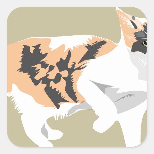 Cat Square Sticker