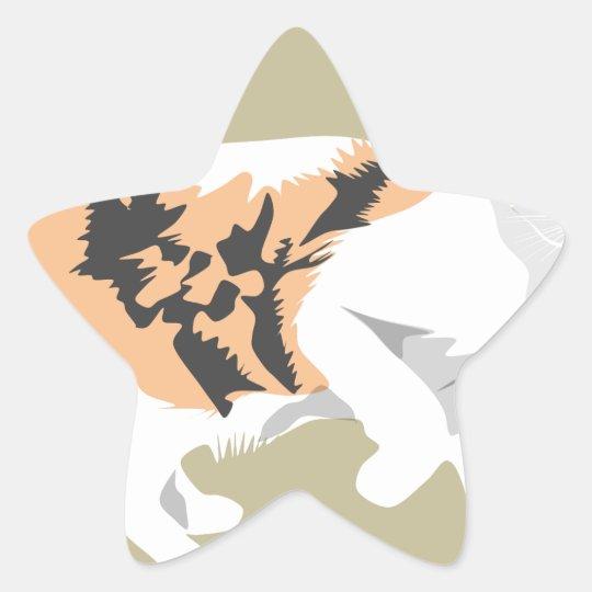 Cat Star Sticker