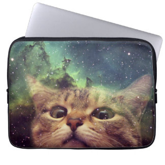 Cat Staring into Space Computer Sleeve