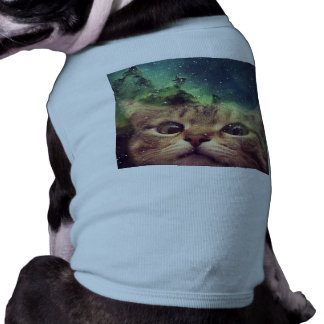 Cat Staring into Space Dog T-shirt