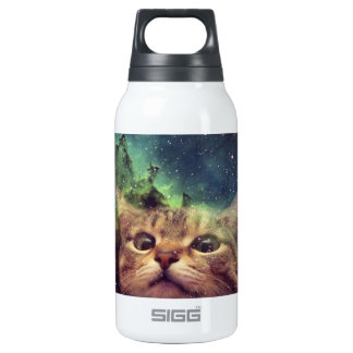 Cat Staring into Space Insulated Water Bottle