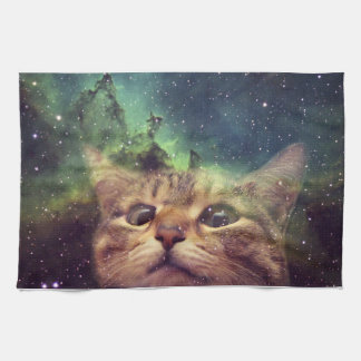 Cat Staring into Space Kitchen Towel