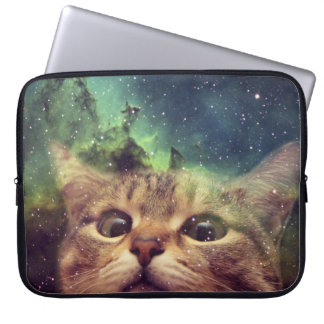 Cat Staring into Space Laptop Computer Sleeve