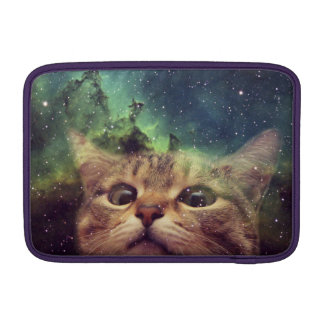 Cat Staring into Space MacBook Sleeve