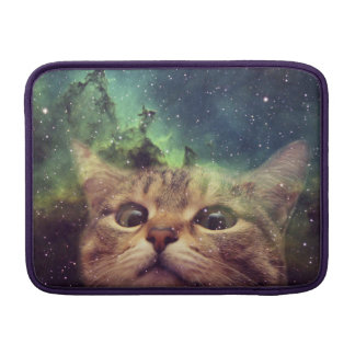 Cat Staring into Space Sleeves For MacBook Air