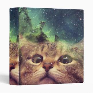 Cat Staring into Space Vinyl Binder